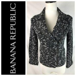 Banana Republic Knit Moto Sweater Jacket